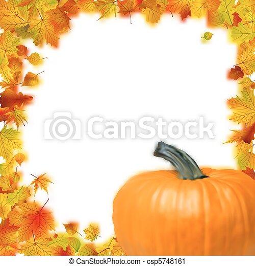 Thanksgiving holiday frame. - csp5748161