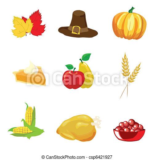 thanksgiving, icônes - csp6421927