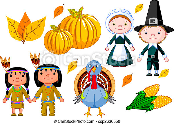 Thanksgiving icon set - csp2636558