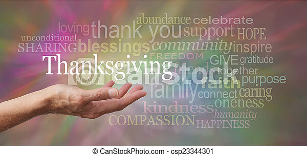 Thanksgiving in your hand - csp23344301