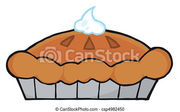 thanksgiving pie fresh pumpkin pie with whipped cream on top rh canstockphoto com Pumpkin Pie Drawing cartoon pumpkin pie images