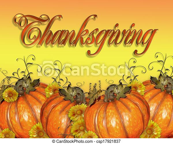 Thanksgiving Pumpkins graphic - csp17921837