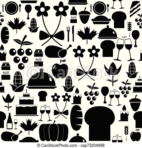 thanksgiving seamless pattern background icon. - csp73204998
