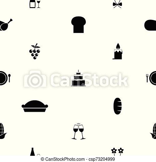thanksgiving seamless pattern background icon. - csp73204999