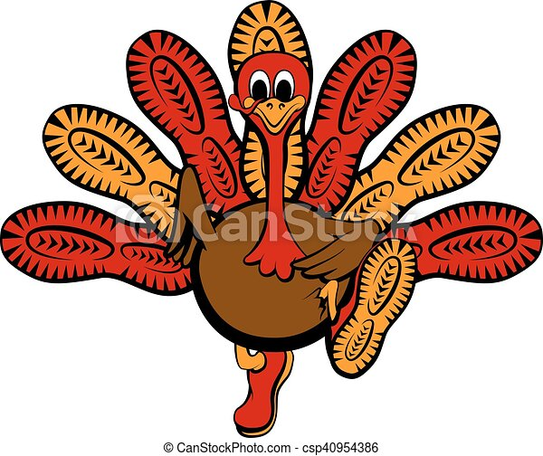 Thanksgiving Turkey Sole Run - csp40954386