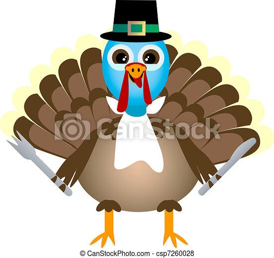 Thanksgiving Turkey Waiting For Thanksgiving Dinner