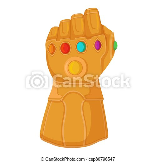 Endgame Fortnite Clip Thanos Glove With Infinity Stones Thanos Titanium Gauntlet All Inserted Gems Of Eternity Red Purple Green Oncept Invincible Canstock
