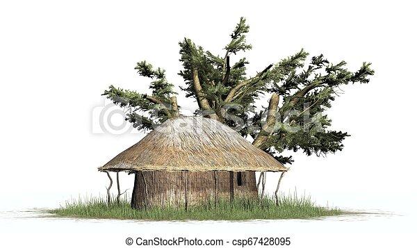 Grass Hut Stock Illustrations – 2,015 Grass Hut Stock Illustrations,  Vectors & Clipart - Dreamstime