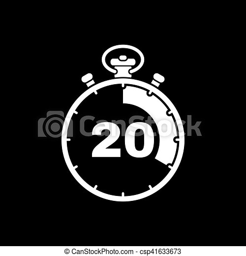 the 20 seconds minutes stopwatch icon clock and watch timer