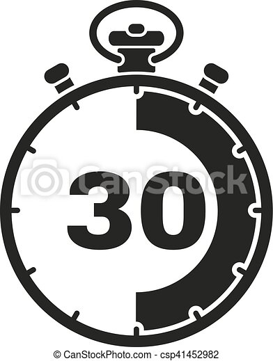 stopwatch clipart. the 30 seconds minutes stopwatch icon clock and watch timer countdown symbol clipart