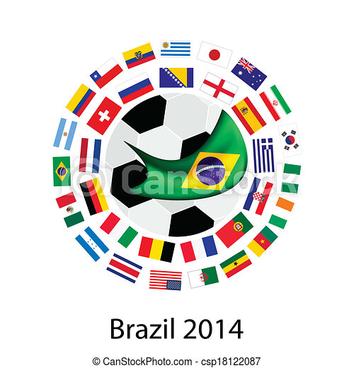 The 32 Teams in 2014 World Cup  - csp18122087