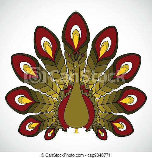 the abstract vector peacock - csp9048771