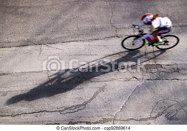 The action during a cycling race - csp92869614
