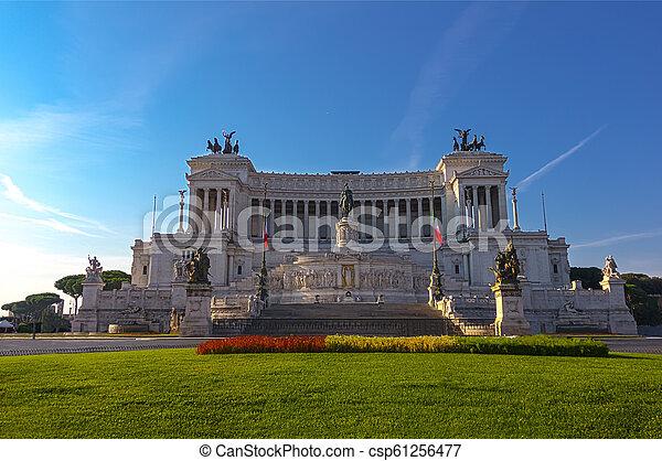 The Altare della Patria (Altar of the Fatherland), also know as Vittoriano in Rome, Italy - csp61256477