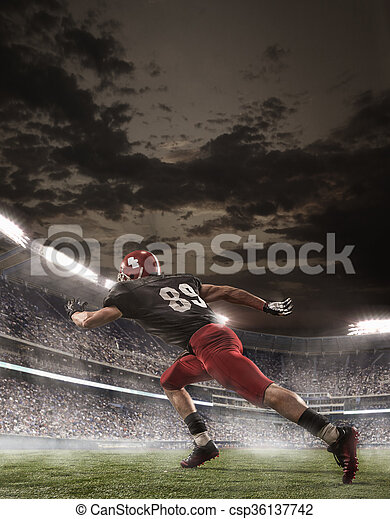 The american football player in action - csp36137742