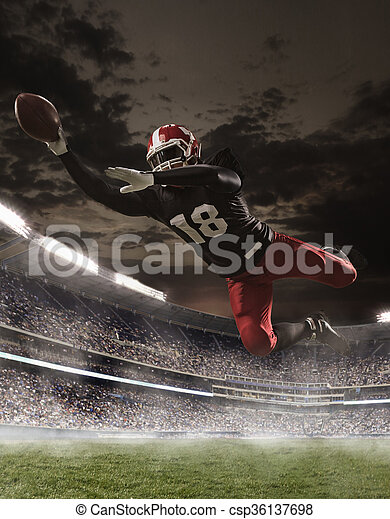 The american football player in action - csp36137698