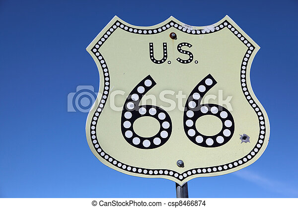 The American highway Historic route 66 - csp8466874