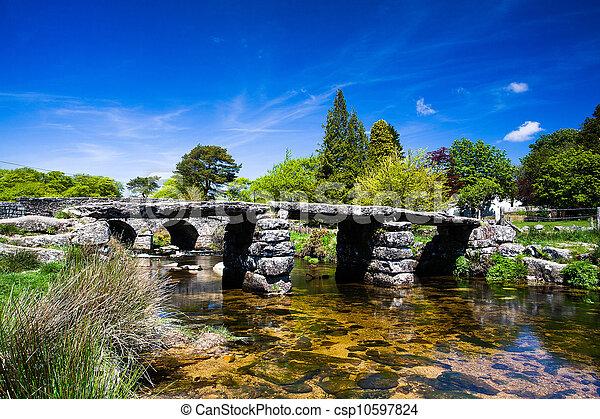 The ancient clapper bridge  - csp10597824