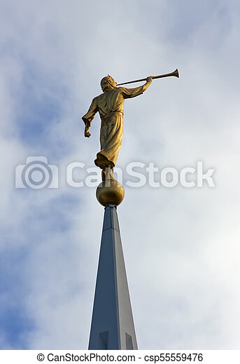 the angel moroni sculpture of angel moroni atop of a mormon temple