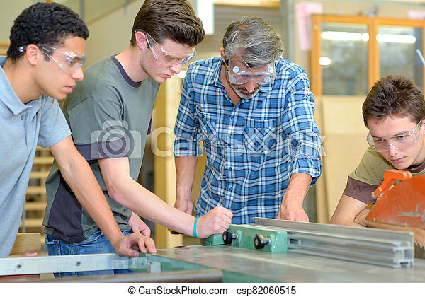 the apprentices are learning a trade - csp82060515