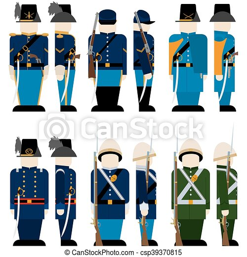 the armed forces of the union army in the civil war the vector rh canstockphoto com american civil war clipart civil war clipart gallery