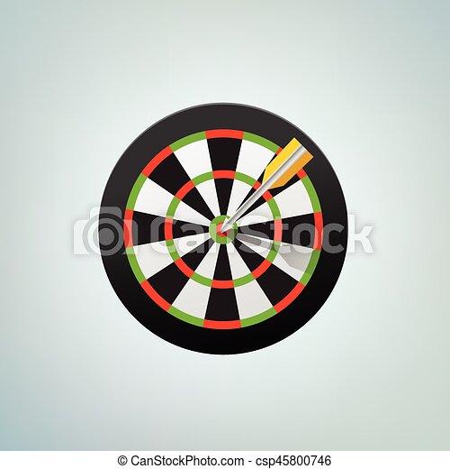 The arrow in bulls eye. Color vector illustration - csp45800746