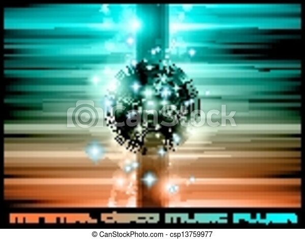 The Art of Disco Flyer - - csp13759977