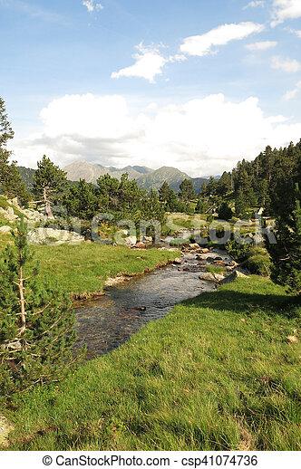 The ational park Aiguestortes in Catalonia, Spain - csp41074736