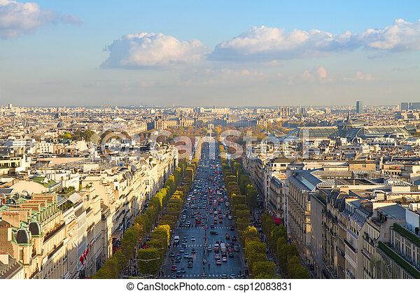 The Avenue des Champs-Elysees, Paris - csp12083831
