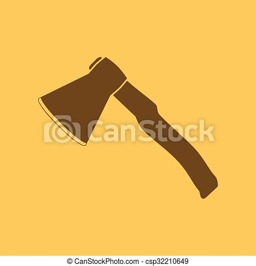 The Ax Icon Axe Symbol Flat Vector Illustration
