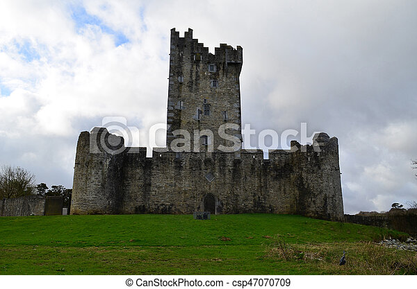 The Backside of Ross Castle in Killarney Ireland - csp47070709