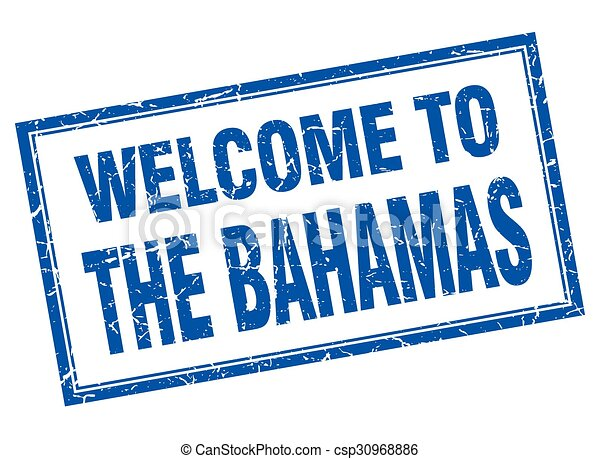 the bahamas blue square grunge welcome isolated stamp vector rh canstockphoto co uk