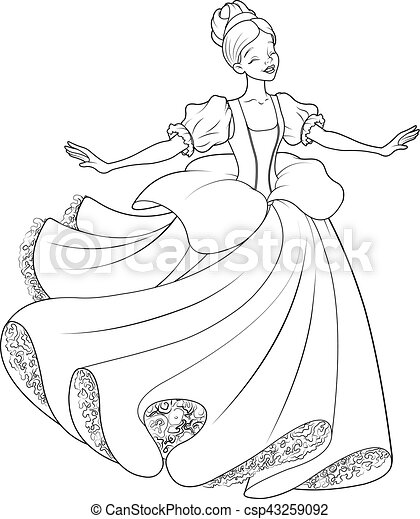 The Ball Dance Of Cinderella Coloring Page