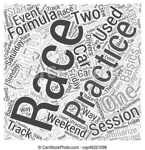The Basics of Formula One Racing Word Cloud Concept - csp46221096