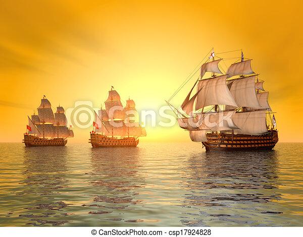 The Battle of Trafalgar - csp17924828