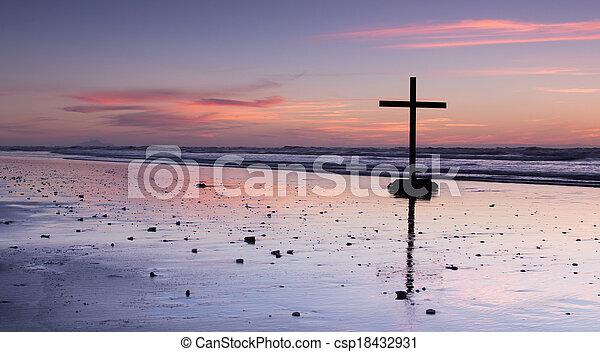 The Beach Cross - csp18432931