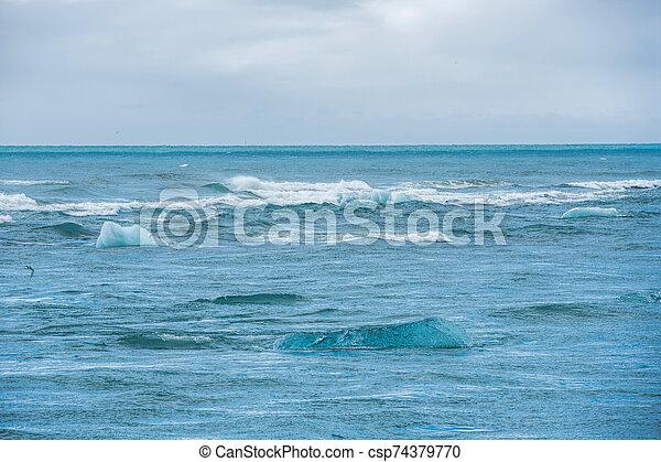 The beach in Jokulsarlon - csp74379770