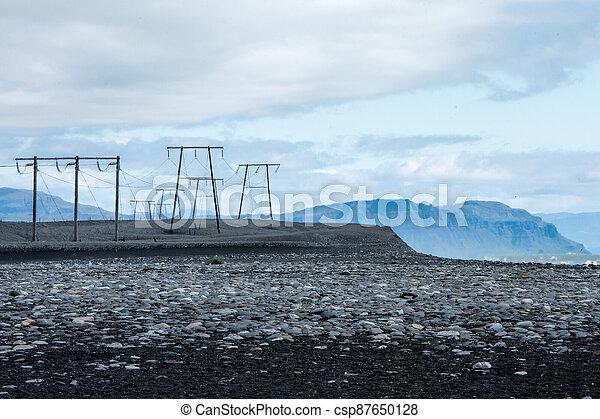 The beach in Jokulsarlon - csp87650128
