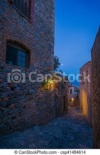 The beautiful Byzantine castle town of Monemvasia - csp41484614
