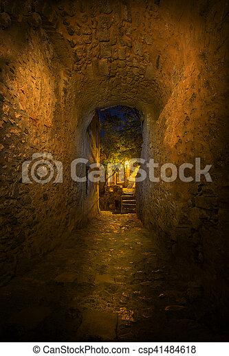 The beautiful Byzantine castle town of Monemvasia - csp41484618