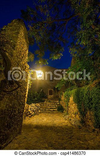 The beautiful Byzantine castle town of Monemvasia - csp41486370