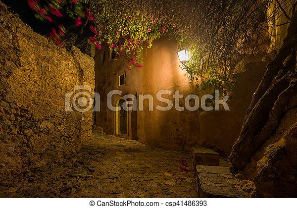 The beautiful Byzantine castle town of Monemvasia - csp41486393