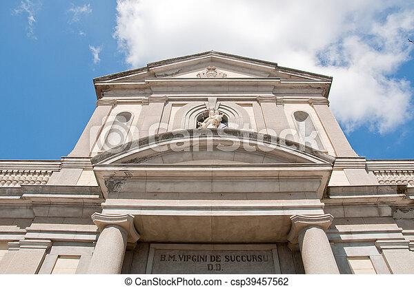 the beautiful church of vibo Valentia in Calabria - csp39457562