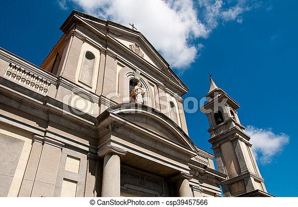 the beautiful church of vibo Valentia in Calabria - csp39457566