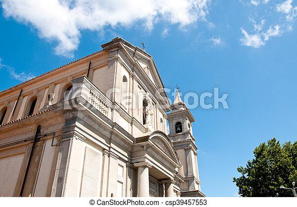 the beautiful church of vibo Valentia in Calabria - csp39457553