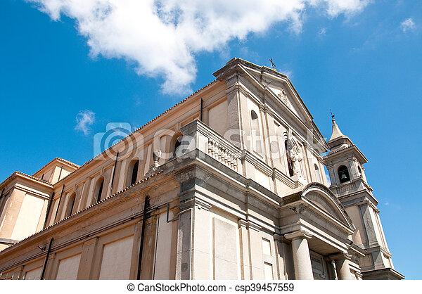 the beautiful church of vibo Valentia in Calabria - csp39457559