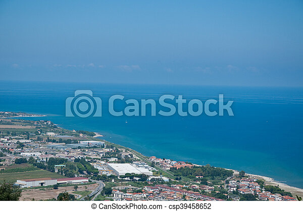 the beautiful city in Calabria vibo marina view from above - csp39458652