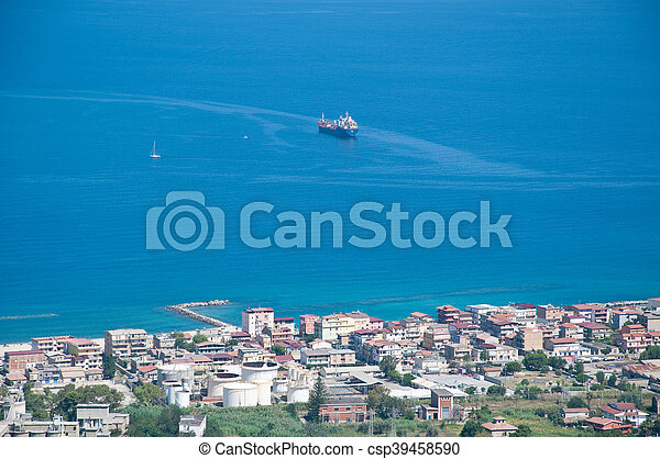 the beautiful city in Calabria vibo marina view from above - csp39458590