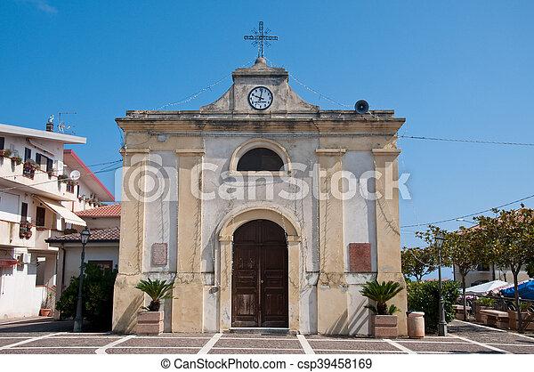 the beautiful city of zambrone in Calabria - csp39458169
