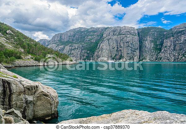 The beautiful Lysefjord, Norway - csp37889370